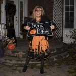 trick or treat halloween skirt