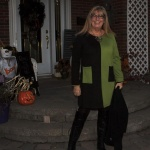 Lace up boots and a Colour block green and black tunic