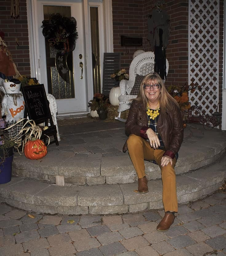 Old Navy plaid tunic, mustard pixie pants and a moto jacket