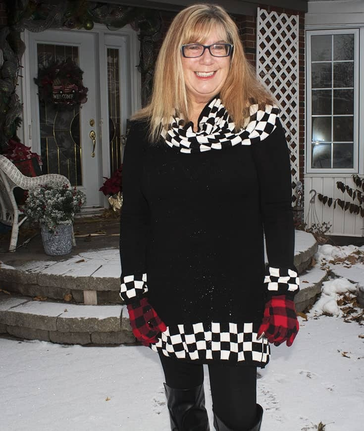 Rocking a Shein Tunic in this winter wonderland