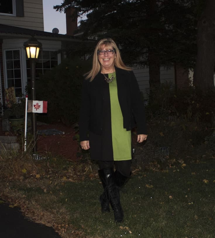 Colour block Tunic from New Chic and shoe dazzle boots