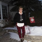 Ho Ho Ho Sweater from Marshalls and plaid pants (2)
