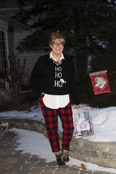 Ho Ho Ho Sweater and Buffalo Plaid Pants