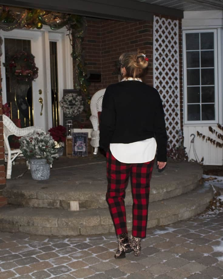 Ho Ho Ho Sweater from Marshalls and plaid pants (3)