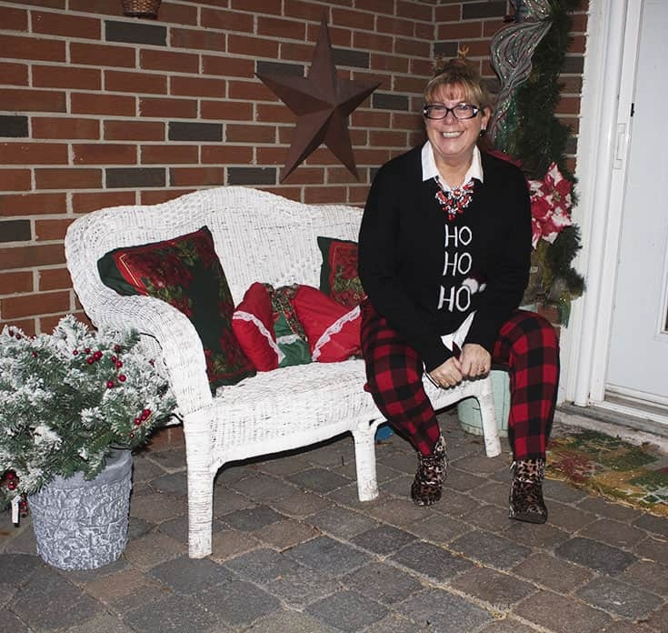 Ho Ho Ho Sweater from Marshalls and plaid pants (7)