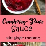 cranberry pear sauce