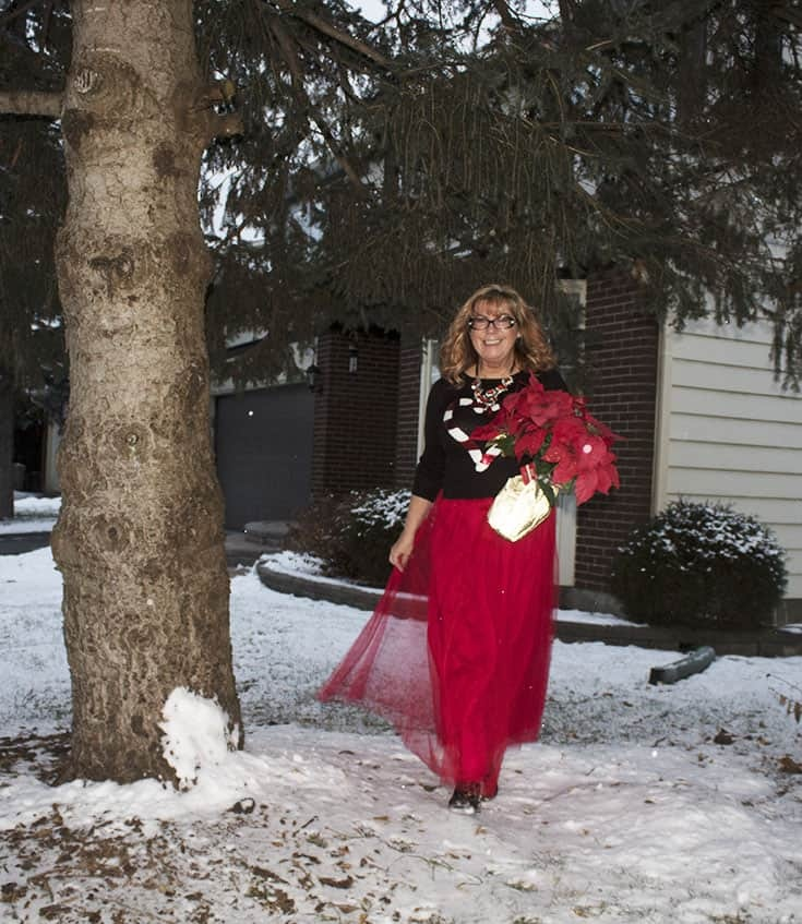 red tulle skirt with Candy Cane Sweater (2)