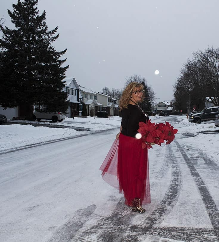 red tulle skirt with Candy Cane Sweater (4)