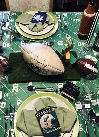 Super Bowl- Game Day Table