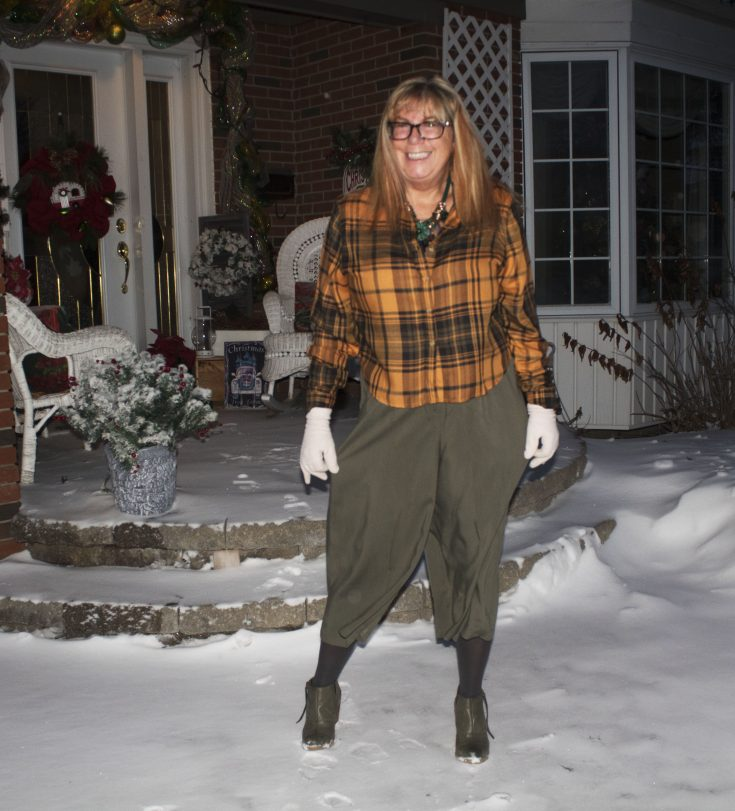Target paper bag waist pants and flannel