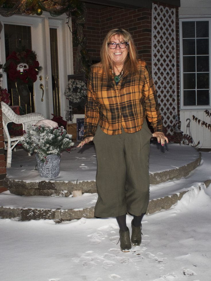 Target paper bag waist pants and flannel 3