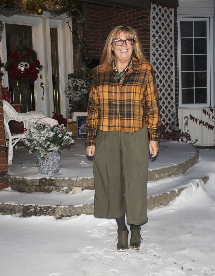 Target paper bag waist pants and flannel 5