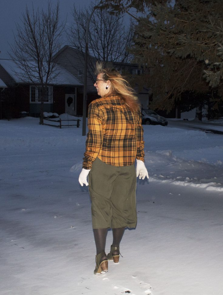 Target paper bag waist pants and flannel 8