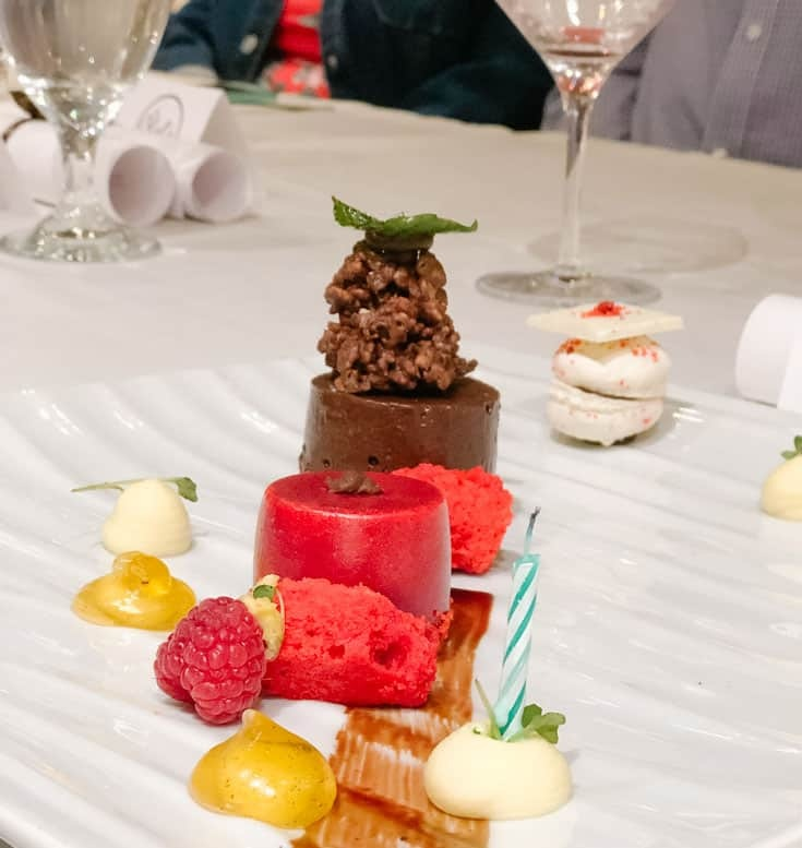 Dessert plate Pastry Chef