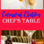 carnival Elation chefs table