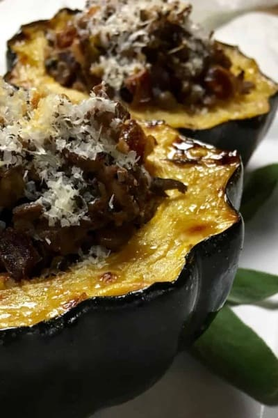 Portobello and Sage-Stuffed Acorn Squash