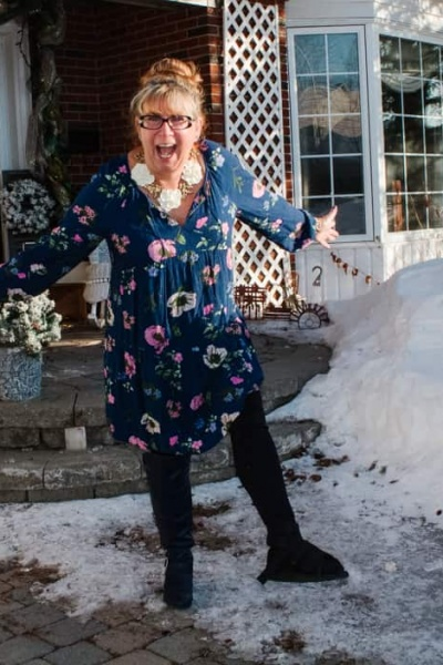 Old Navy Floral Dress and A Labour of Fashion