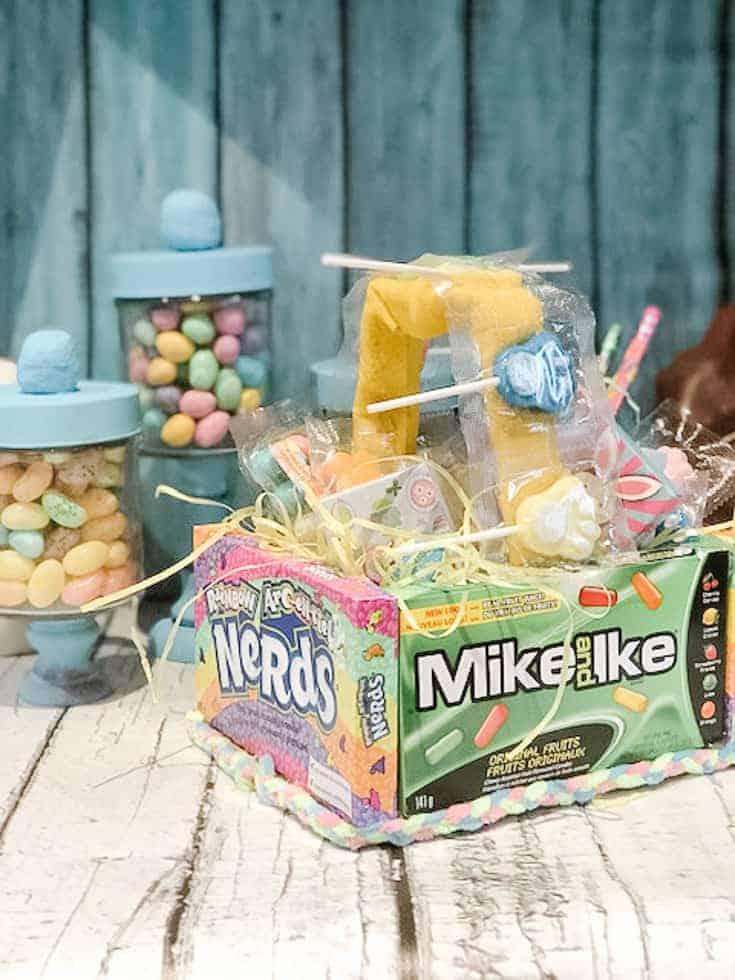 edible vcandy basket