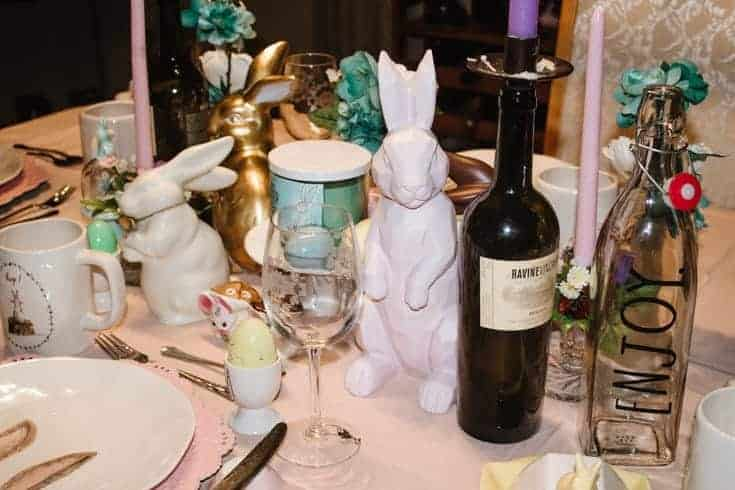 centrepiece with rabbits