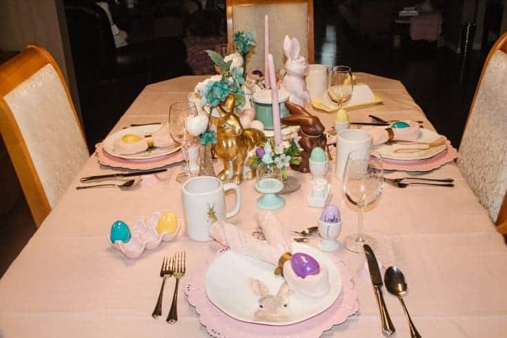 pink pastel table cloth