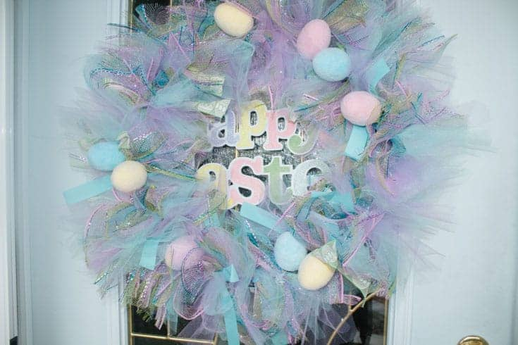 decomesh pastel easter wreath
