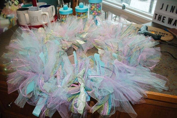 creating pastel wreath