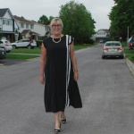 Athleisure dress from Eva Trends walking down the street
