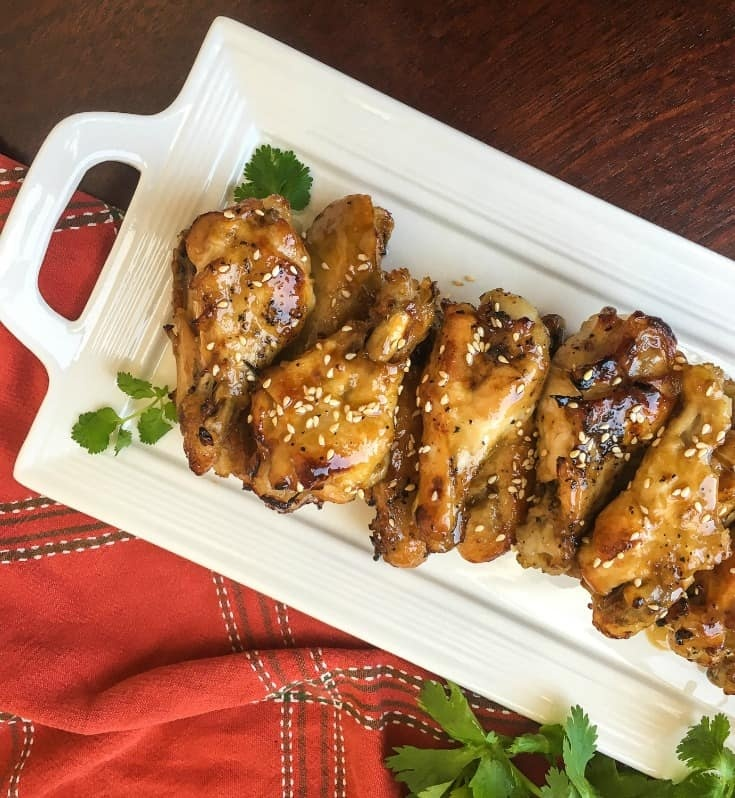 sesame garlic chicken wings