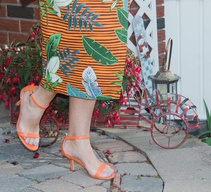 shoe dazzle orange sandals