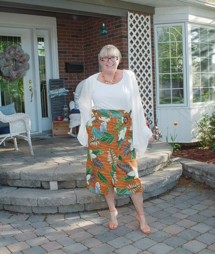 5 tropical skirt and strappy sandals