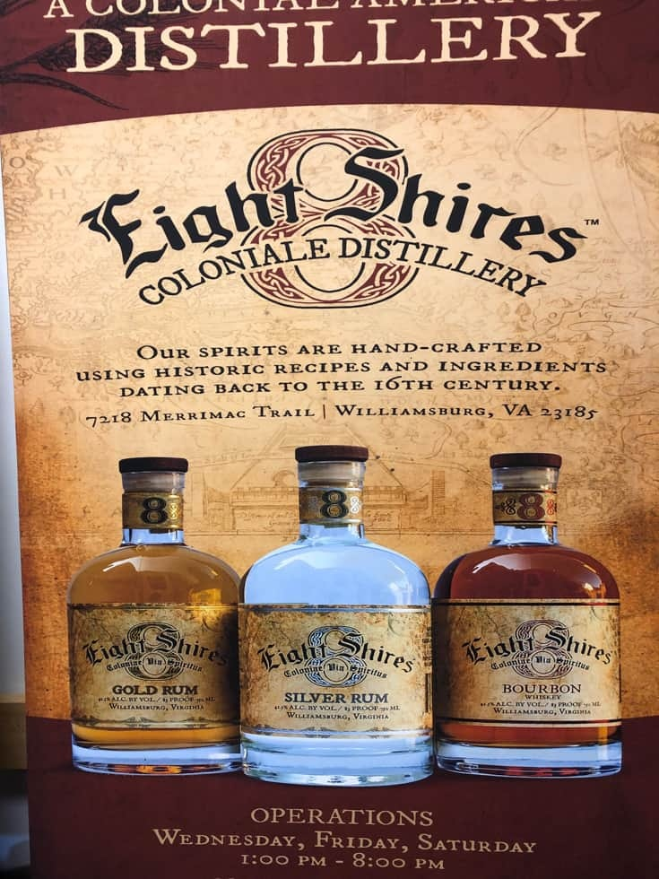 Eight Shires Distillery in Williamsburg