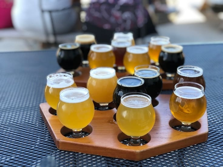 beer flight at Virginia Beer Co