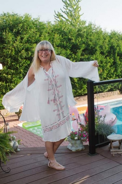 Target Boho White SunDress and a Linkup