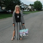 stripes and kate spade