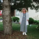 Old Navy Jumpsuit and a linen cardi for summer style