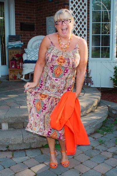 Orange you Happy It's Shoe Dazzle Sandal Time
