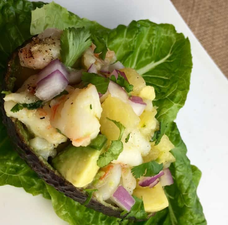 pineapple shrimp avocado