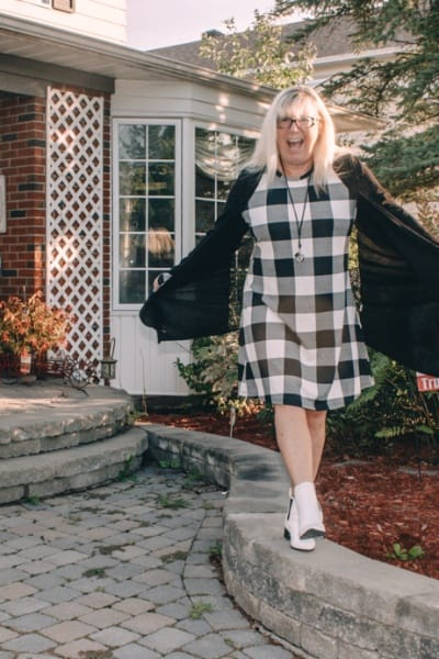 Blooming Jelly and a Plaid Swing Dress