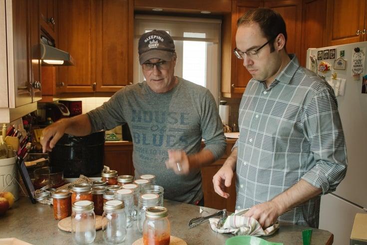 kents fresh salsa recipe being prepared