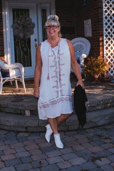 Target Boho Dress in White