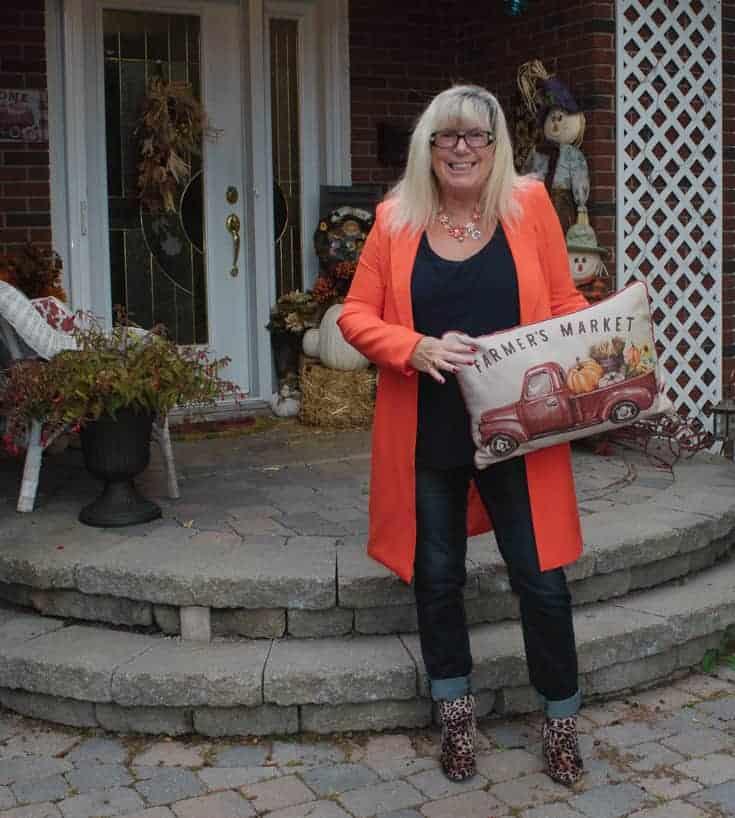 orange shein blazer with leopard boots 5
