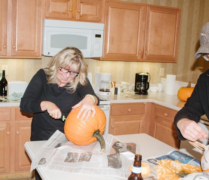 pumpkin carving in the poconos