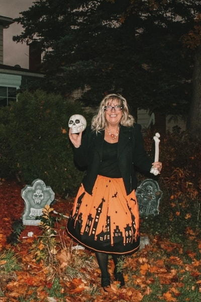 All Hallow's Eve and a Gamiss Halloween Skirt
