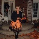 halloween skirt in orange and black