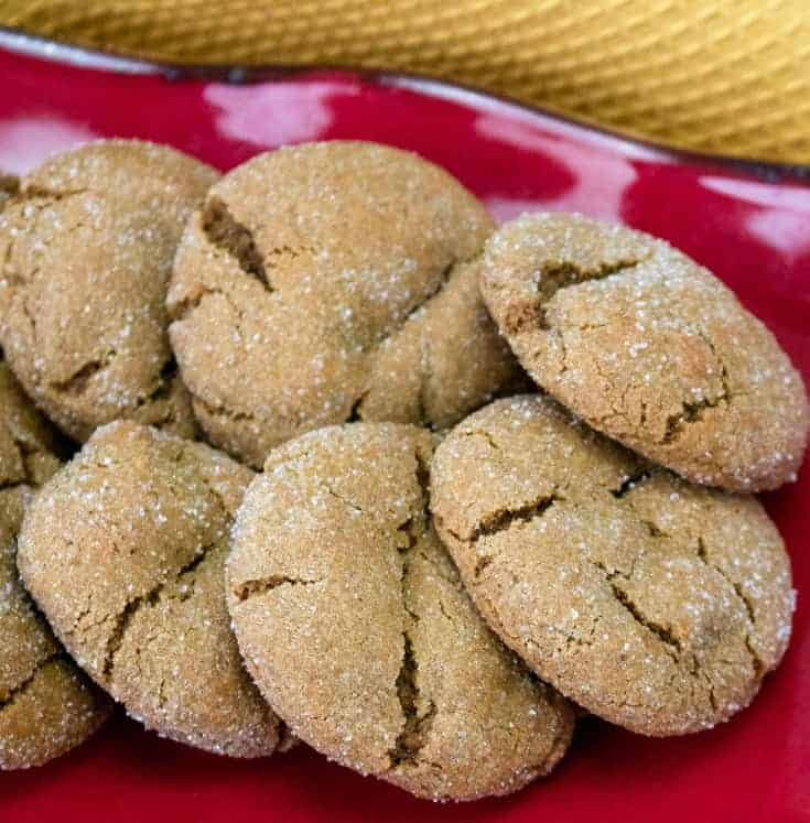 ginger snaps on a plate