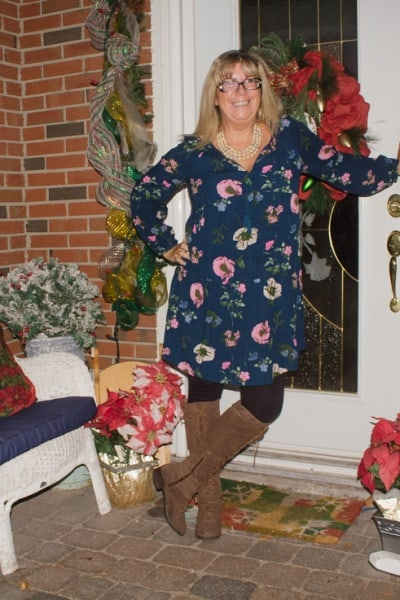 Old Navy Floral Dress and a Link up