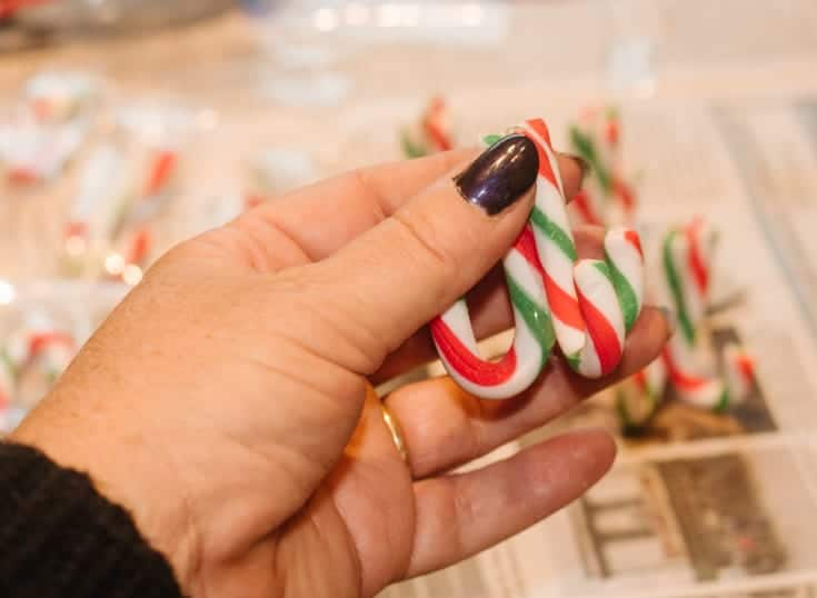 candy cane place card holders handmade