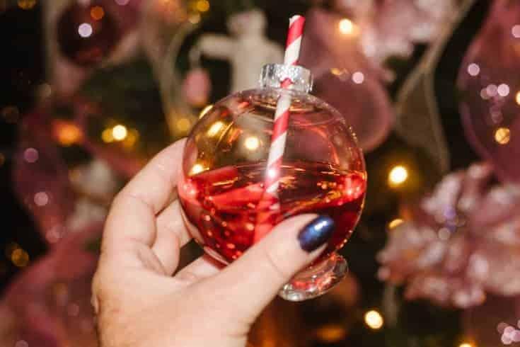 christmas ball cocktail glasses