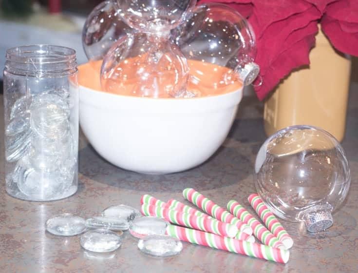 supplies for christmas ball glasses