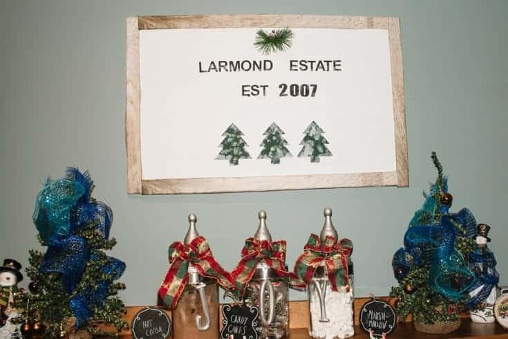 christmas tree sign diy